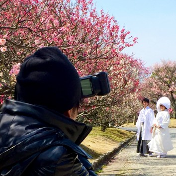 【熊本店 前撮りより】梅の花と!