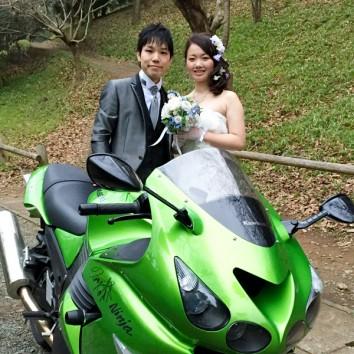【熊本店 前撮りより】大好きなバイクと(^^)