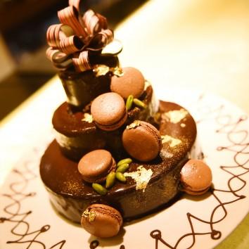 (前撮り 福岡店より) 手作りウェディングケーキ