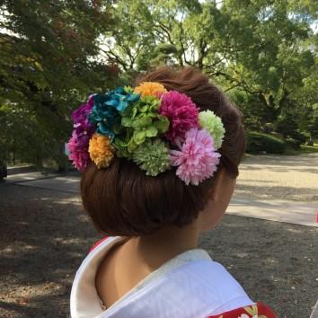 【熊本店 前撮りより】花飾り❀