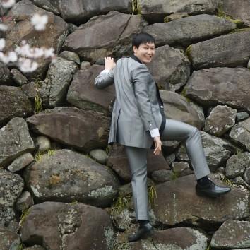 (前撮り 福岡店より) 岩登り!?
