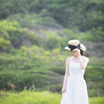 (前撮り 福岡店より) ドレスに帽子