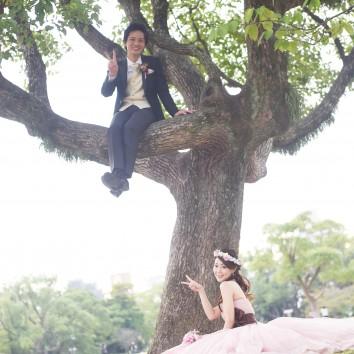 (前撮り 福岡店より) 木登り(*^^*)