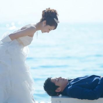 【熊本店 前撮りより】1月末の青い海と青い空♪