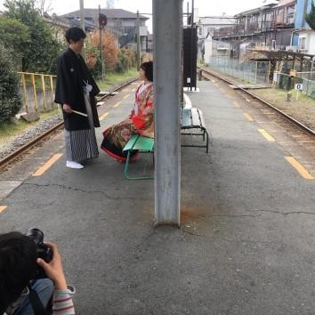 【熊本店 前撮りより】プラットホーム(^_^)