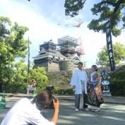 地震後の熊本城。