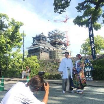 【熊本店 前撮りより】地震後の熊本城。