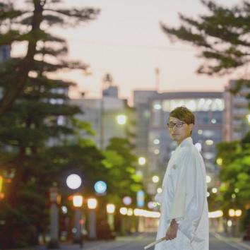 【熊本店 前撮りより】日が沈んだ神社にて