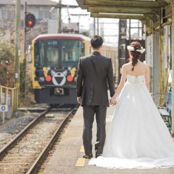 【熊本店・屋外ロケ】電車と一緒に