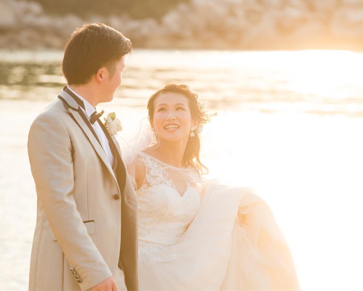 福岡前撮りのオススメロケ地:芥屋海水浴場│福岡の前撮り・フォトウェディングはTHE WEDDING TOWN