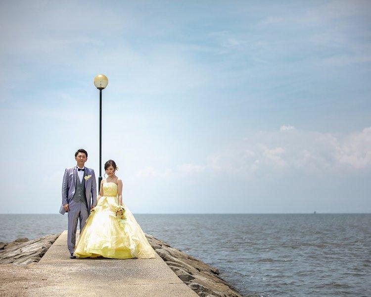 熊本前撮りオススメのロケ地:裏新港熊本の前撮り・フォトウェディングはTHE WEDDING TOWN