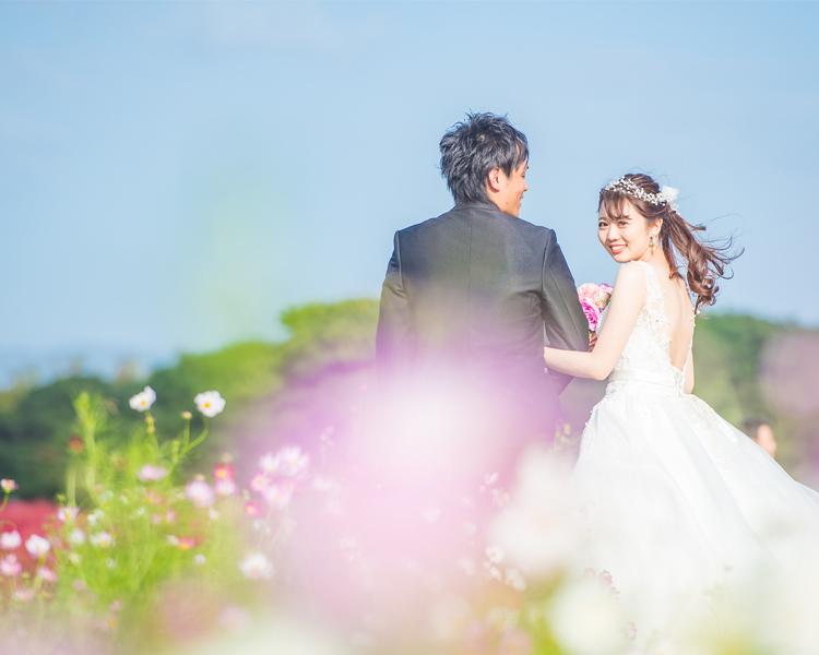 福岡 海の中道海浜公園での前撮り│福岡の前撮り・フォトウェディングはTHE WEDDING TOWN
