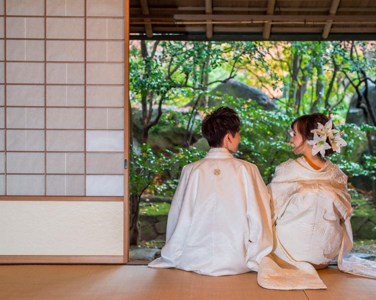 福岡日本庭園での前撮り│福岡の前撮り・フォトウェディングはTHE WEDDING TOWN